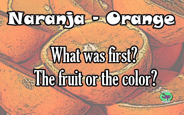 Orange Is The Fruit Named After The Color Whynotspanishcom