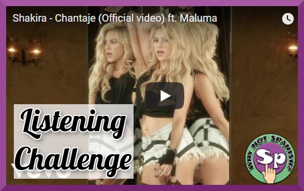 "Spanish Listening Challenge - Sie7e ""Tengo Tu Love"""