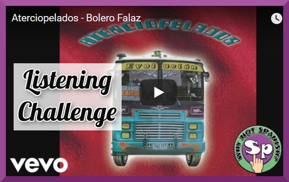 "Spanish Listening Challenge - Aterciopelados ""Bolero Falaz"""
