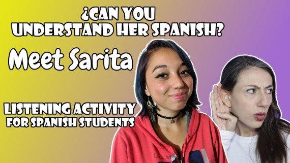 Spanish listening practice with quiz